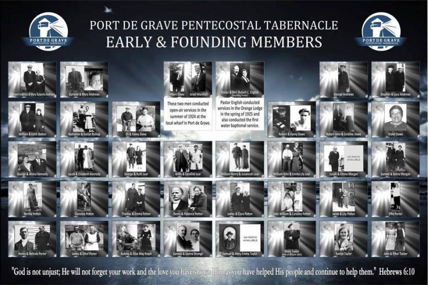 PDG Pentecostal Tabernacle Founding Members